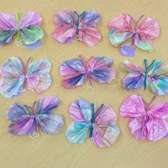 preschool art projects | Butterfly project