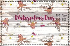 Posted by @newkoko2020 Watercolor Deer by marenkruth on @creativemarket