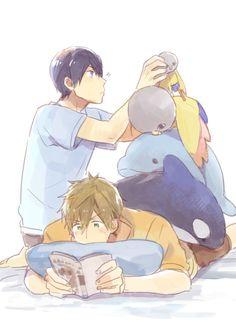 MakoHaru ♡ Makoto Tachibana x Haruka Nanase (Free! Eternal Summer and High☆Speed! Manga Anime, Fanarts Anime, Otaku, Makoharu, Makoto Tachibana, Swimming Anime, Super Anime, Free Eternal Summer, Accel World