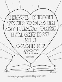 I Have Hidden Your Word In My Heart Free Printable Coloring Page