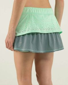 Lululemon In A Flash Skirt *2-way Stretch $64.00 Fresh Teal/Double Diamond Fresh Teal ~