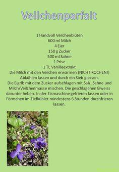 Gartenkraut: Veilchenparfait