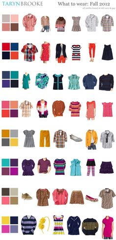I love the color pallets with the outfits, it is nice for Fall.