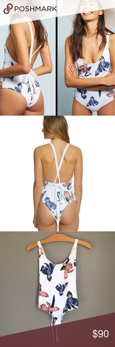 5861ae7b92428 Anthropologie Tavik Iris Floral White One Piece This beautiful suit was  sold by Anthropologie and is