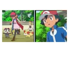 Poor Serena, Ash looks so worried about her! Amourshipping