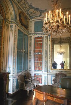 Dauphin's Library French Interior, Classic Interior, French Decor, Versailles, Beautiful Architecture, Interior Architecture, Baroque Architecture, Royal Room, Western Bedroom Decor