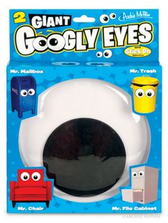 Giant Googly Eyes. Archie McPhee has designed Giant Googly Eyes, a fun pair of extra-large adhesive backed googly eyes (which makes eyebombing easier than ever).