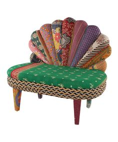Take a look at this Teal Peacock Love Seat by Karma Living on #zulily today!