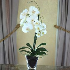 Jane Seymour Phalaenopsis Orchid 19H in. Silk Flower Arrangement - http://yourflowers.us/?p=1475