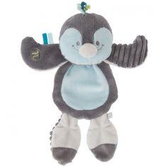 Doudou plat platso Louis le pingouin : Noukie's - Doudou plat - Berceau Magique
