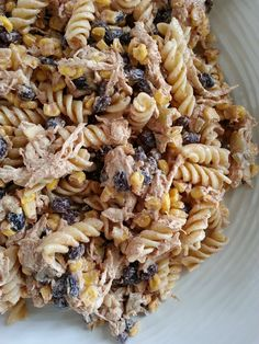 Mexican Chicken Pasta Salad. Looks like a pasta salad I might actually eat.