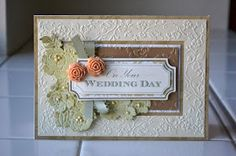Mitered embossed border for something totally different