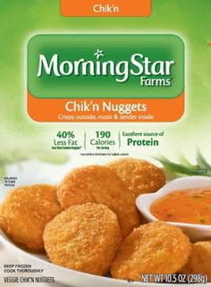 Imitation Chicken Nuggets - YUMMY - just make sure to bake them. They are soggy otherwise