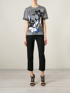 Alexander Mcqueen Prince Of Wales Skull T-shirt - Biffi - Farfetch.com