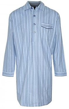 Champion New Mens CHAMPION Striped Brushed Cotton Knee Length Long sleeved Button Front Nightshirt Nightwear  Mens Quality Lounge - Sleep Wear. Super Brushed Cotton Nightshirt By Champion. Button Opening Front And Breast Pocket. 100% Brushed Cotton Wyncette Material (Barcode EAN = 5016109057031). http://www.comparestoreprices.co.uk/december-2016-5/champion-new-mens-champion-striped-brushed-cotton-knee-length-long-sleeved-button-front-nightshirt-nightwear-.asp