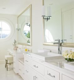 Photo of White Bathroom project in Yarrow Point, WA by Susan Marinello Interiors