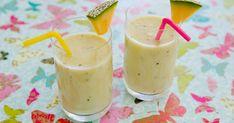 Smoothie med läskande smaker som barn gillar. Smoothien är söt och god av honung och banan.
