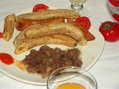 Bananes/Manioc frit + Kangué