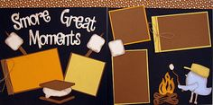 Smore Great Moments 2-page 12x12 do-it-yourself scrapbook kit. $7.00, via Etsy.