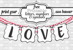 Free Printable Letters for Banners!