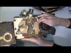 Custom die G45 Steampunk debutante mini album part 1 - YouTube