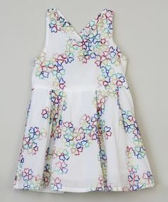 Look what I found on #zulily! White Floral Dress - Toddler & Girls #zulilyfinds