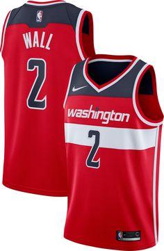 69b8a02ed87 Nike Men's Washington Wizards John Wall #2 Red Dri-FIT Swingman Jersey