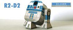 R2D2 paper-toy star wars
