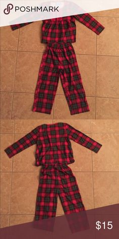 Girls PJs 4/5 Adorable set of girls pajamas. Top had cute ruffle detailing. Size 4/5.  See pics for exact condition. From clean pet and smoke free home. Due to the exorbitantly high cost of shipping packages in excess of 5 lbs. I will not be selling or shipping bundles over 5 lbs.  Please ask prior to purchasing if you think your bundle may be over 5 lbs. Pajamas Pajama Sets