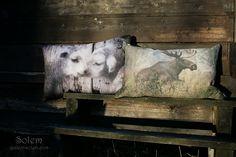 Puter dyremotiver Solem cushions Solem puter puter med motiver av dyr Puter med dyretrykk