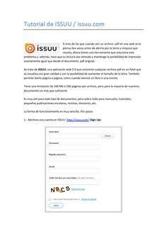 Tutorial ISSU, para crear libros digitales