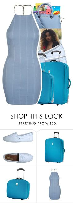 """College Move In Day"" by trendydee ❤ liked on Polyvore featuring TOMS, Atlantic and Topshop"
