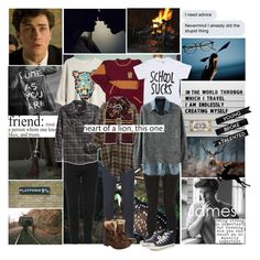 """James Potter - Prongs (Harry Potter)"" by smol-snowflake ❤ liked on Polyvore featuring Olsen, WALL, H&M, Topshop, Retrofit, Folk, J Brand, Converse and Superdry"