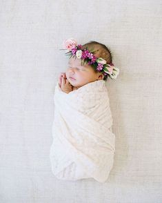 flower crown on baby