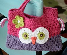crochet owl purse @Mary Margaret Helma