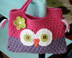 crochet owl purse @Mary Margaret Helma
