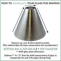 How to measure your glass for draping #warmglass #fusedglass #slumpys