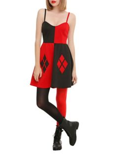 07de58b3916 DC Comics Harley Quinn Costume Dress from Hot Topic. Shop more products  from Hot Topic on Wanelo.