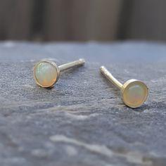 Opal Earrings Opal Stud Earrings White Opal Stud Earrings Blue Opal Stud Earrings Blue Opal Earrings Opal Stud Earrings October Birthstone by INNOCENTIJEWELRY on Etsy