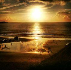 Sunset Fistral Beach, Newquay, Cornwall July 2013. #LoveNewquay