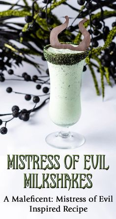 Inspired by the release of Maleficent: Mistress of Evil, The Geeks have created a recipe for a deliciously dark dessert called Mistress of Evil Milkshakes. Frozen Drink Recipes, Milkshake Recipes, Drinks Alcohol Recipes, Yummy Drinks, Smoothie Recipes, Delicious Desserts, Milkshakes, Dessert Recipes, Fireball Recipes