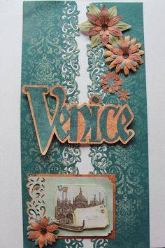 I am trying to use up the Stickers on the Reminisce Travel sticker sheet. I thought I would try using more of the power palette supplies (flowers) The title I made using the LD Chrismtas font from a Silhouette Library designer. Travel Scrapbook, Scrapbook Pages, Wedding Borders, Border Ideas, Creative Memories, Scrapbooking Layouts, Vacation Trips, Venice, Embellishments
