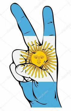 Peace Sign of the Argentinean flag vector art illustration Free Vector Images, Flag Vector, Vector Art, Diego Armando, Stencils, Peace Fingers, Illustration Art, Clip Art