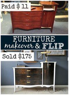 Furniture flip and makeover sawdust2stitches.com