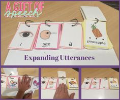 Ideas for expanding utterances and teaching a/an/the