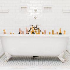 bathtub full of bubbly