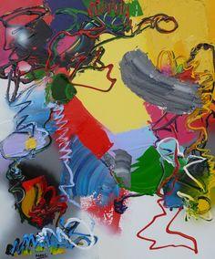Latin Dance, schilderij van Marten Alkema | Abstract | Modern | Kunst