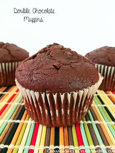 Double Chocolate Chip Muffins Mini Muffins - 10 min, use only 1C chocolate chips These were AMAZING!