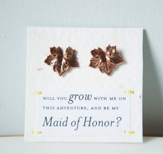 Will You Be My Maid of Honor Bronze Tone by ShopHazelandIvy