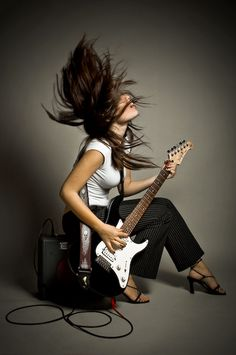 Awesome Guitar Pic of Girl - not for Nick but wanted to save